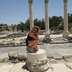 Marina Rothberg on site at Beth She'an in southern Israel.