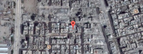 Umm Al-Qasr ruins Satellite Image from July 4, 2016Beloved Prophet Mosque in Damascus Satellite Image from September 17, 2016, amid airstrike damage Google Map Imagery ©2017 DigitalGlobe, Map data ©2017
